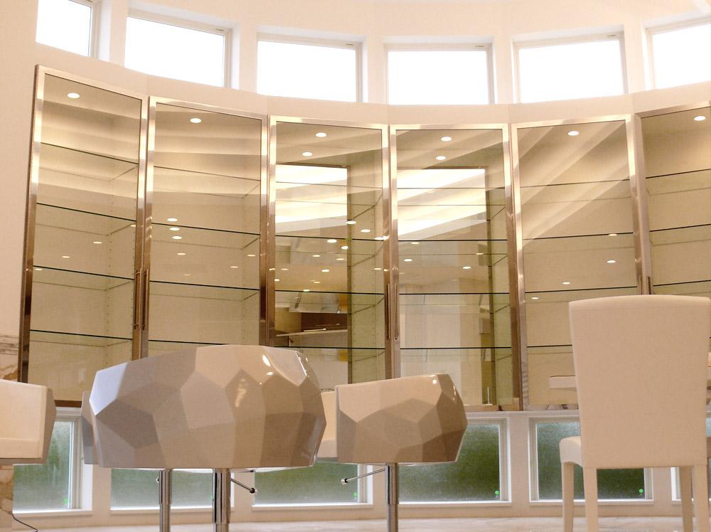 兵庫県・N邸造作のガラスの飾り棚