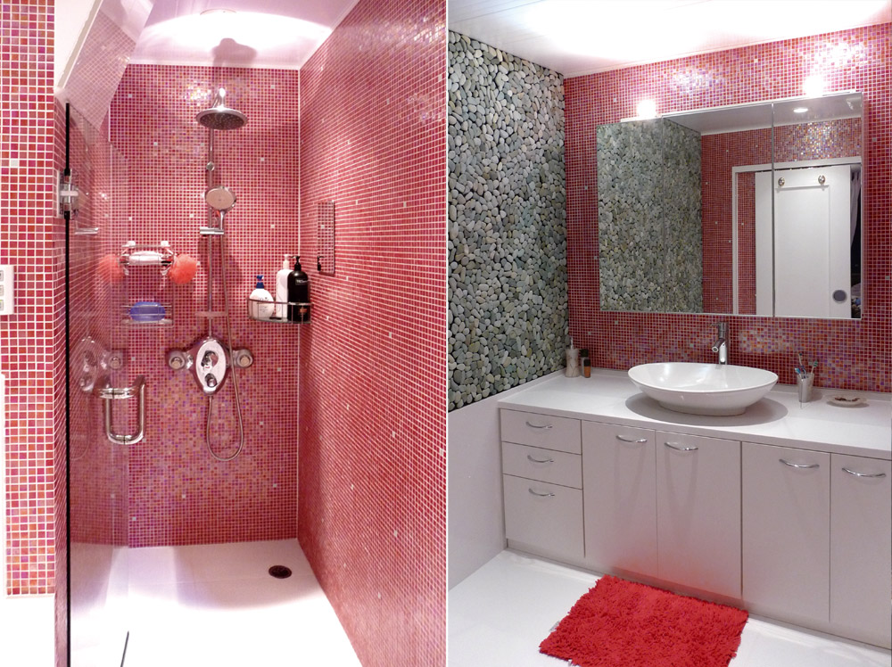 神戸市・J邸シャワールームと洗面室