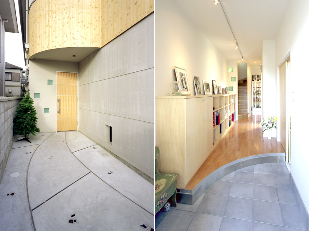神戸市・K邸玄関アプローチと玄関ホール
