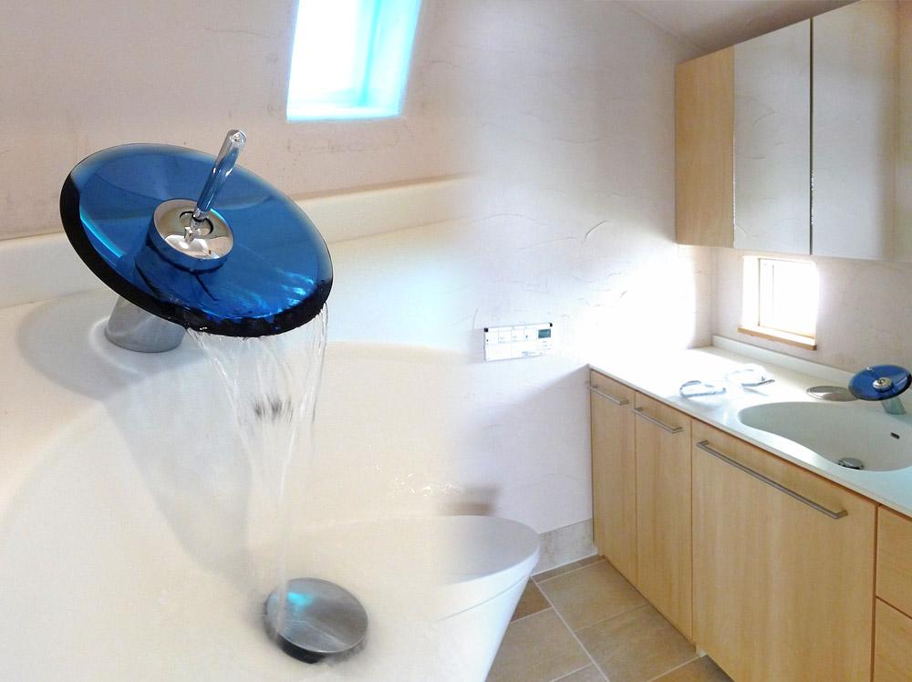 京都府宮津市・39号地モデルハウス洗面台と水栓