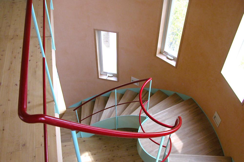 西宮市・T邸新築工事:螺旋階段