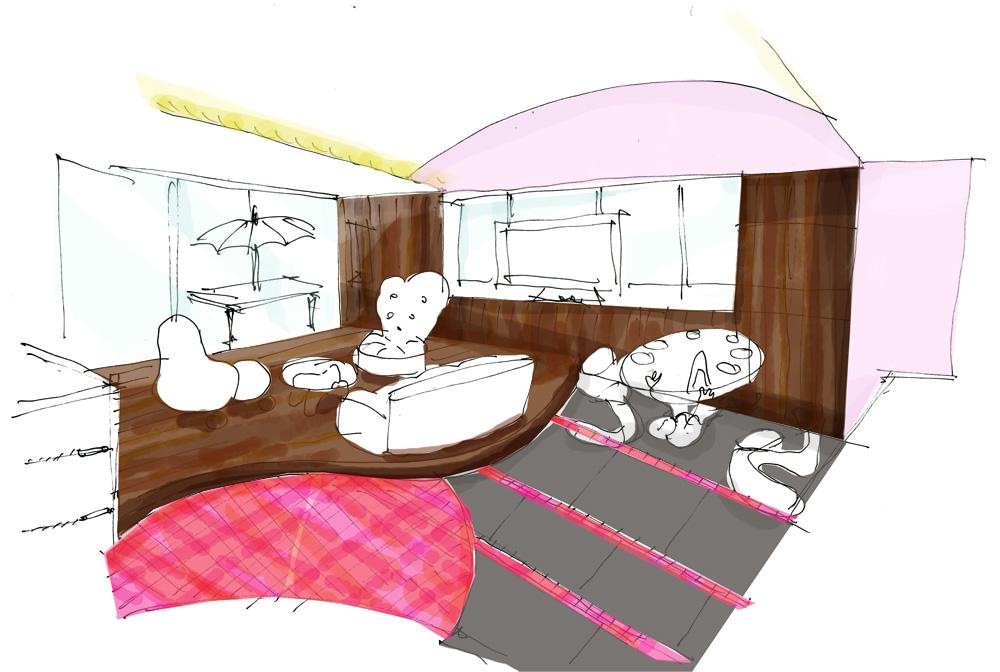 神戸市北野町J邸デザインイメージスケッチ