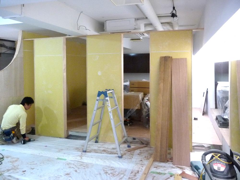 神戸トアウェストヘアサロン店舗設計パーテーション設置
