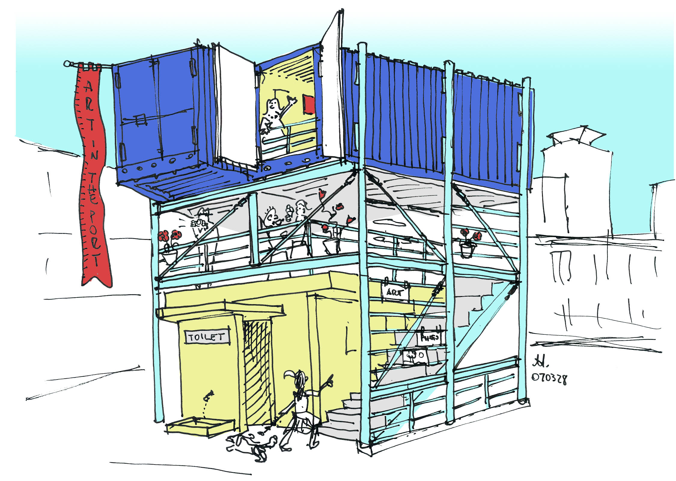 blue-container
